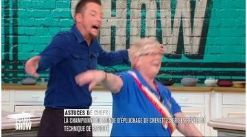 Toque show : Concours d'épluchage de crevettes avec Nicole Vanzinghel championne du monde !