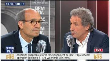 Éric Woerth face à Jean-Jacques Bourdin en direct