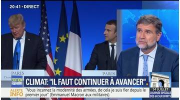 """Macron-Trump: une rencontre entre """"amis"""""""