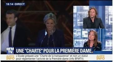 """Brigitte Macron: pas de statut mais une """"charte de la transparence"""""""