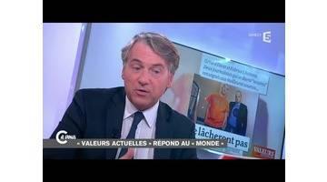 """Yves de Kerdrel de """"Valeurs actuelles"""" répond à Lhomme et Davet du """"Monde"""" - C à vous - 16/10/2014"""