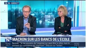 Macron sur les bancs de l'école