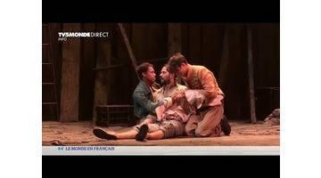 """Théâtre: Benjamin Lavernhe, un """"Scapin"""" démoniaque et sexué..."""