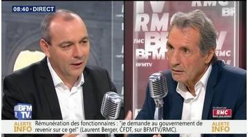 Laurent Berger face à Jean-Jacques Bourdin en direct