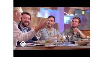 Julien Clerc, Tarek Boudali et Philippe Lacheau au dîner - C à Vous - 20/10/2017