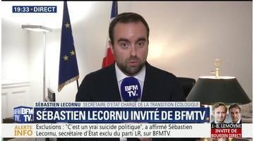 """Exclusions chez LR: """"C'est un vrai suicide politique"""", Sébastien Lecornu"""