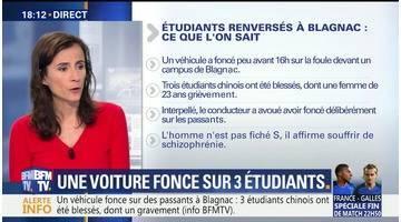 Toulouse: une voiture fonce sur 3 étudiants (1/2)