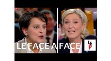 Face-à-face Marine Le Pen / Najat Vallaud-B. - L'Emission politique le 10 février 2017 (France 2)