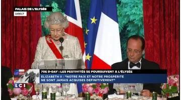 """Elizabeth II fait part de """"sa grande affection pour le peuple français"""""""