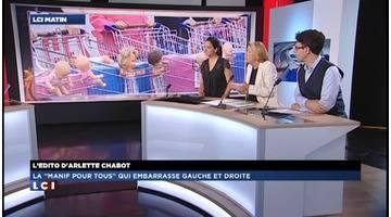 """Edito d'Arlette Chabot : La """"manif pour tous"""" qui embarasse gauche et droite"""
