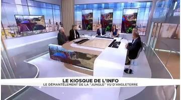 """Le Kiosque de l'info du 29 octobre - Le démantèlement de la """"Jungle""""de Calais vue depuis le Royaume-Uni"""