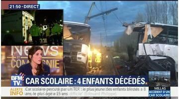 """Car scolaire percuté par un TER à Millas: """"Un drame terrible s'est produit"""", Édouard Philippe"""