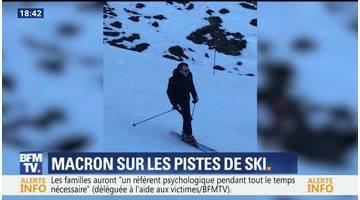 La Mongie: Emmanuel Macron sur les pistes de ski