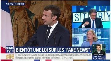 """Emmanuel Macron lance une offensive contre les """"fake news"""" (1/2)"""