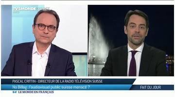 """""""No Billag"""": Pascal Crittin, nous parle de l'avenir de la télévision Suisse"""