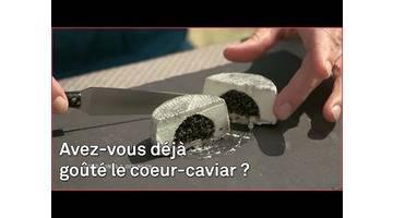 Fromage de chèvre + caviar = cœur-caviar !