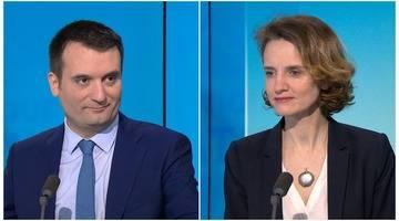 Florian Philippot et Céline Calvez