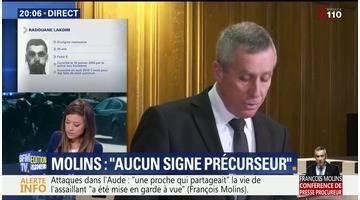 Attaques terroristes dans l'Aude: François Molins s'exprime