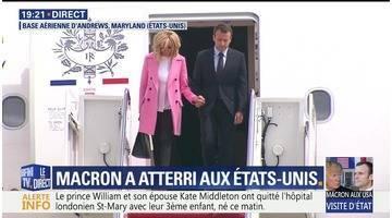 Emmanuel Macron arrivé aux Etats-Unis