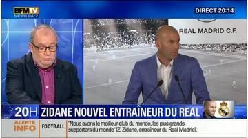 Zinédine Zidane nommé nouvel entraîneur du Real Madrid