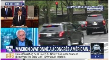 Emmanuel Macron ovationné au Congrès américain