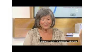 Alzheimer, Colette Roumanoff témoigne - C à vous - 18/09/2015
