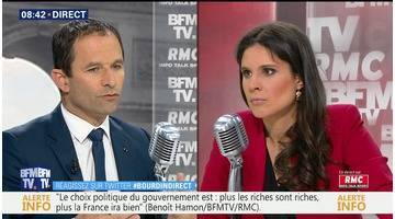 Benoît Hamon face à Apolline de Malherbe en direct