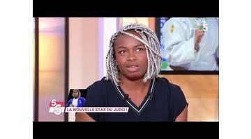 Romane Dicko, nouvelle star du judo ! - C à Vous - 30/04/2018