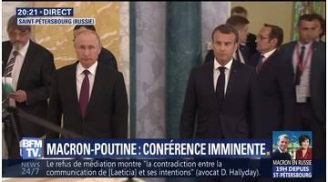 Macron-Poutine: les enjeux de la rencontre entre les deux dirigeants en Russie