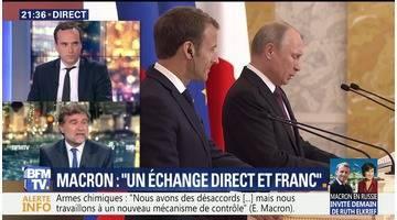 L'entretien Macron-Poutine en Russie
