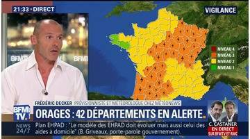 Orages: 42 départements en alerte orange (2/2)