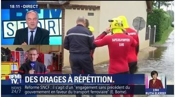 Orages et inondations: 27 départements en vigilance orange (1/2)