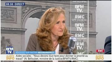 Nicole Belloubet face à Jean-Jacques Bourdin en direct