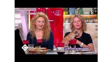 Bruno Podalydès, Emeline Bayart et Karin Viard - C à Vous - 07/06/2018