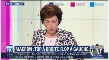 Macron: top à droite, flop à gauche