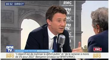 Benjamin Griveaux face à Jean-Jacques Bourdin en direct
