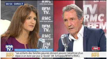 Marlène Schiappa face à Jean-Jacques Bourdin en direct