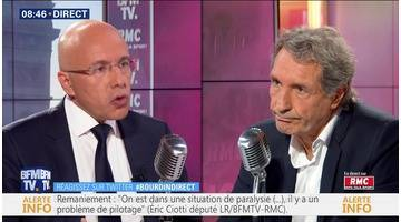 Eric Ciotti face à Jean-Jacques Bourdin en direct