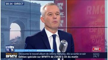 François de Rugy face à Jean-Jacques Bourdin en direct