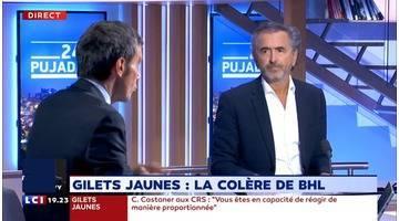 """Bernard-Henri Lévy : """"Pour moi, ce n'est plus un mouvement social"""""""