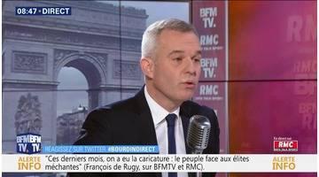 François de Rugy face à Jean-Jacques Bourdin en direct