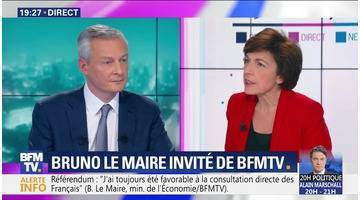 Bruno Le Maire face à Ruth Elkrief